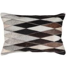 Kayoom Lederkissen Lavish Pillow 510 Grau 40 x 60 cm