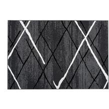 Kayoom Teppich Vancouver 110 Anthrazit / Schwarz / Weiß 120 x 170 cm