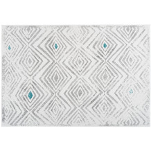 Kayoom Teppich Vancouver 410 Weiß / Grau 120 x 170 cm