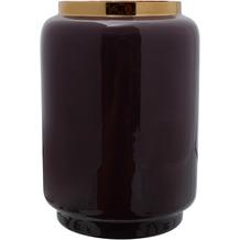 Kayoom Vase Art Deco 425 Dunkellila / Gold