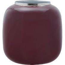 Kayoom Vase Art Deco 525 Pflaume / Silber