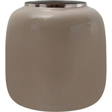 Kayoom Vase Art Deco 545 Taupe / Silber