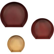 Kayoom Wandregal-Set Triple 110 Dunkelrot / Bordeaux / Gold