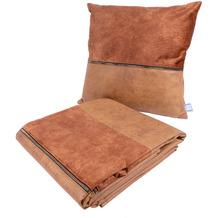 Kenda Sand Dekokissen & Decke Picco 125 2er-Set Terra / Kaffee