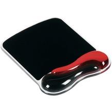 Kensington Duo Gel Wave für Maus, rot/schwarz