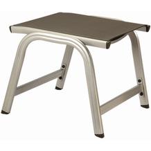 Kettler Hocker Basic Plus, Aluminiumprofil silber, Textil anthrazit, L 55 x B 54 x H 44 cm