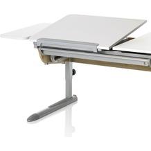 Kettler Schreibtisch-Zubehör SEITENPLATTE Weiß/Silber