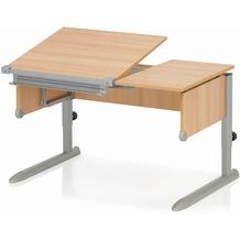 Kettler Schreibtisch COMFORT II Buche/Silber