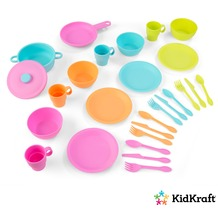 Kidkraft 27-teiliges Koch-Set in hellen Farben