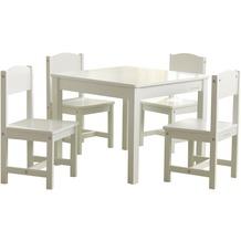 Kidkraft Farmhouse Tisch mit 4 Stühlen - Weiß