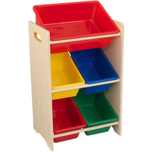 Kidkraft Regal mit 5 Kisten - Naturfarben