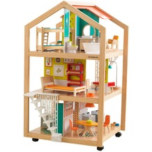 Kidkraft Stylish Mansion Puppenhaus mit Rollen