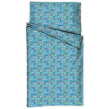 Kindertraum Kinderbettwäsche Punkte-Sterne Blau 40/60 + 100/135cm