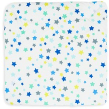 Kindertraum Puckdecke Punkte Sterne Türkis 75/75cm