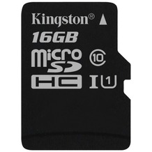 Kingston microSDHC Class 10 UHS-I Single ohne Adapter, 16GB