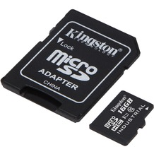 Kingston microSDHC Industrial Temp, UHS-1, 16GB mit SD Adapter