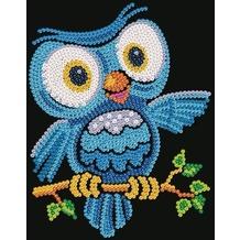 Kit Fix Swallow Ltd. Sequin Art Junior Ozzy Eule