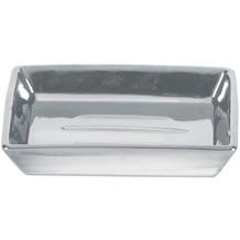 Kleine Wolke Accessoires Seifenschale Glamour, Silber 2,5 x 11 cm