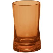Kleine Wolke Accessoires Zahnputzbecher Fortune, Orange 11,5 x 6,5 cm