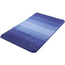 Kleine Wolke Badteppich Alicante Marineblau 55 cm x 55 cm WC-Vorleger mit Ausschnitt