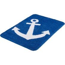 Kleine Wolke Badteppich Anchor, Royalblau 65x115 cm