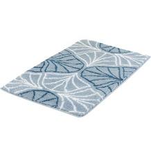 Kleine Wolke Badteppich Bloom Stahlblau 60x90 cm