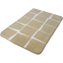Kleine Wolke Badteppich Carat Sandbeige 55x 60 cm