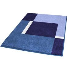 Kleine Wolke Badteppich, Dakota, Marineblau 55 x 55 cm WC-Vorleger mit Ausschnitt