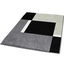 Kleine Wolke Badteppich Dakota Platin 55 cm x 55 cm WC-Vorleger mit Ausschnitt