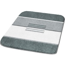 Kleine Wolke Badteppich, Deco, Schiefer 50 x 50 cm WC-Vorleger mit Ausschnitt