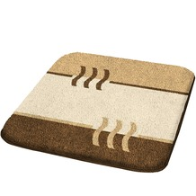 Kleine Wolke Badteppich Fiesta Bambusbeige 50 cm x 50 cm WC-Vorleger mit Ausschnitt
