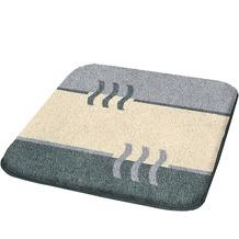 Kleine Wolke Badteppich Fiesta Platin 50 cm x 50 cm WC-Vorleger mit Ausschnitt
