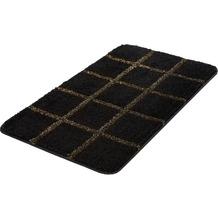 Kleine Wolke Badteppich Grid, Schwarz-Gold 55x 65 cm