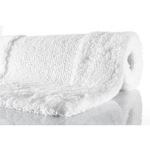 Kleine Wolke Badteppich Havanna Schneeweiss 47 cm x 50 cm Deckelbezug