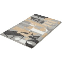 Kleine Wolke Badteppich Letter, Nebel 60x 90 cm