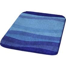 Kleine Wolke Badteppich Miami Himmelblau 50 cm x 50 cm WC-Vorleger mit Ausschnitt