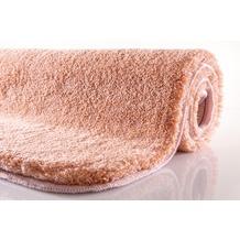 Kleine Wolke Badteppich Relax Salmon 55 cm x 55 cm WC-Vorleger mit Ausschnitt