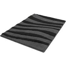 Kleine Wolke Badteppich Riga, Schiefer 55x 50 cm WC-Vorleger mit Ausschnitt