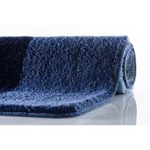 Kleine Wolke Badteppich Seaworld Marineblau 50 cm x 50 cm WC-Vorleger mit Ausschnitt