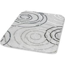 Kleine Wolke Badteppich Splash Nebel 50 cm x 50 cm WC-Vorleger mit Ausschnitt
