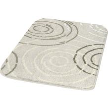 Kleine Wolke Badteppich, Splash, Seide 50 x 50 cm WC-Vorleger mit Ausschnitt