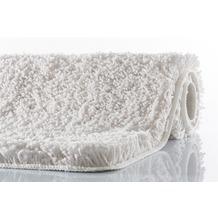 Kleine Wolke Badteppich Trend Weiß 55 cm x 55 cm WC-Vorleger mit Ausschnitt