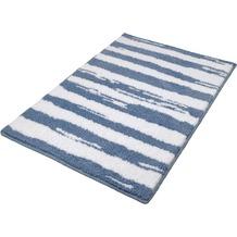 Kleine Wolke Badteppich Tunis Stahlblau 60 cm x 60 cm