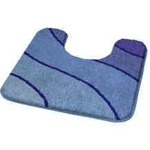 Kleine Wolke Badteppich Wave Marineblau 55 cm x 55 cm WC-Vorleger mit Ausschnitt