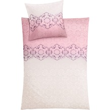 Kleine Wolke Bettwäsche Flakes Pastellrose 135 cm x 200 cm & 80 cm x 80 cm