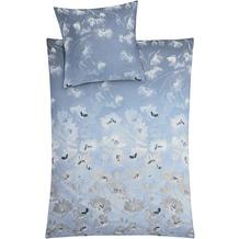 Kleine Wolke Bettwäsche Flora Blau 155 cm x 220 cm & 80 cm x 80 cm