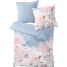 Kleine Wolke Bettwäsche Sakura, blau 1-135x200 /1- 80x 80