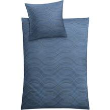 Kleine Wolke Bettwäsche Shiraz Blau 155 cm x 220 cm & 80 cm x 80 cm