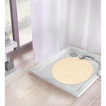 Kleine Wolke Duscheinlage Arosa, Sandbeige Duscheinlage 55x 55 cm