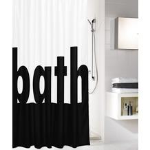 Kleine Wolke Duschvorhang Bath Schwarz Weiss 180x200 cm